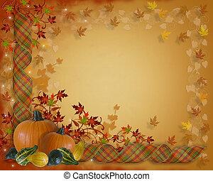 autunno, bordo, ringraziamento, cadere