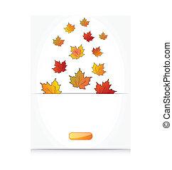 autunno, cadere, acero, fondo, foglie