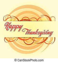 autunno, cerchi, felice, ringraziamento, v