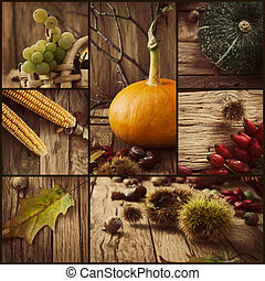 autunno, collage