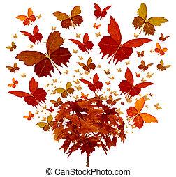 autunno, concetto, albero