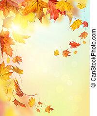 autunno, congedi cadenti