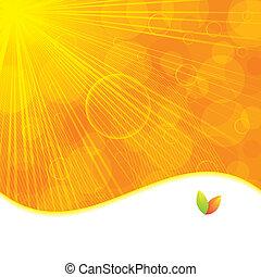 autunno, estate, o, fondo, arancia