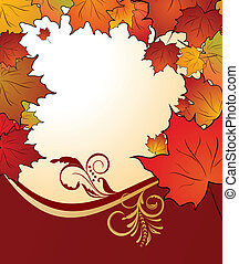 autunno, floreale, aceri, fondo