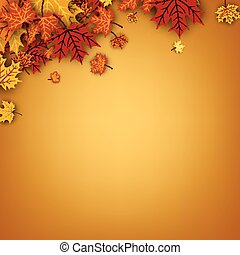 autunno, fondo, acero, leaves.