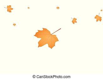 autunno, fondo, mette foglie