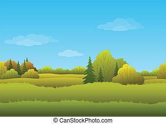 autunno, fondo, seamless, paesaggio