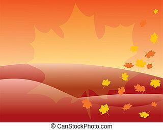 autunno, fondo., [vector]