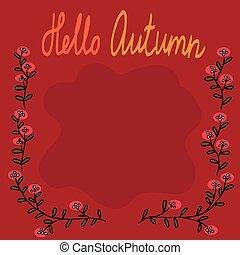 autunno, fram, quadrato