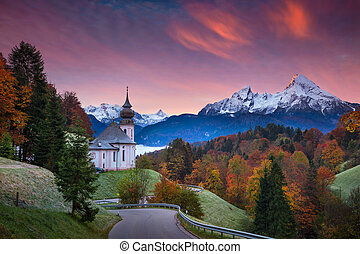 autunno, in, alps.