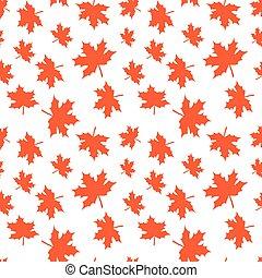 autunno, mietere, carta, modello, foglie, involucro, seamless, leaves., tessile, vettore, fondo, scrapbooking., stampa