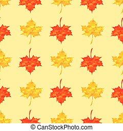 autunno, modello, acero rosso, seamless