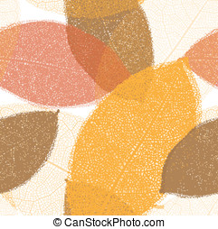 autunno, modello, foglie, seamless, filo