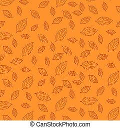 autunno, modello, mette foglie, fondo