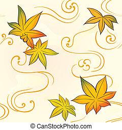 autunno, modello, seamless
