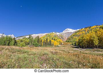 autunno, montagna, roccioso