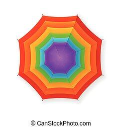 autunno, ombrello, vettore, rainbow.