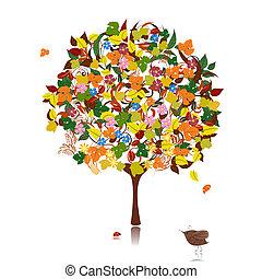 autunno, ornamentale, albero