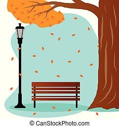 autunno, panchina
