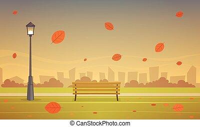 autunno, parco città