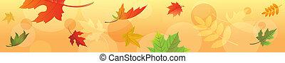 autunno parte, bandiera