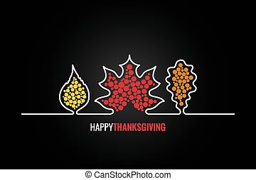 autunno parte, disegno, ringraziamento, fondo