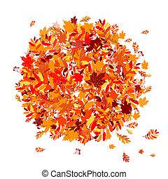 autunno parte, disegno, tuo, fondo