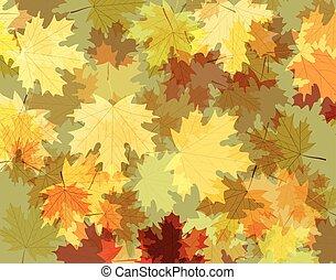 autunno parte, fondo, acero