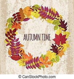 autunno parte, ghirlanda