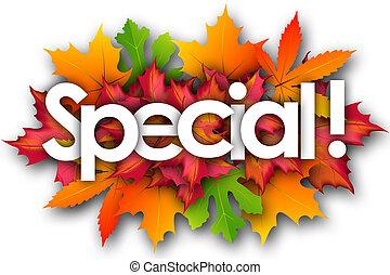 autunno parte, parola, speciale, fondo