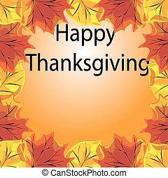 autunno parte, ringraziamento, fondo, felice