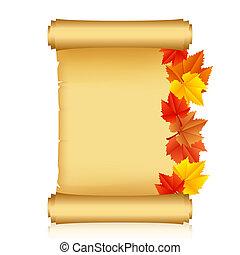 autunno parte, rotolo