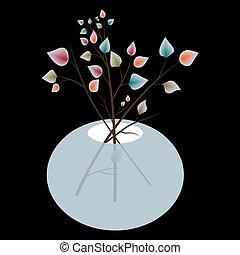 autunno parte, vaso