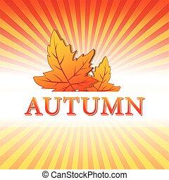 autunno parte, vec, illustrazione, cadere