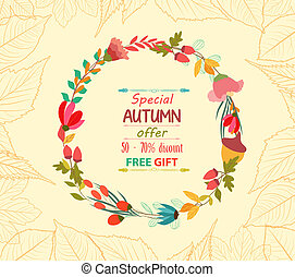 autunno parte, vendita, fondo