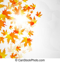 autunno parte, vettore, astratto, fondo