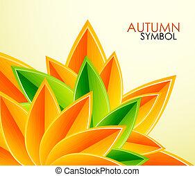 autunno parte, vettore, fondo