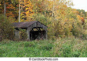 autunno, ponte coperto