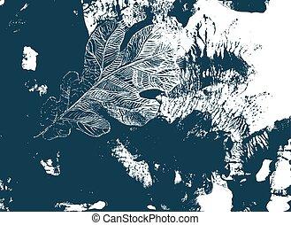 autunno, quercia, albero., foglia, defoliation