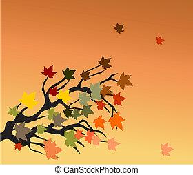 autunno, ramo