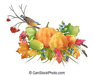 autunno, ringraziamento, composizione