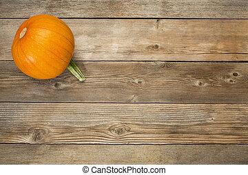 autunno, rustico, legno, zucca