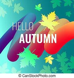 autunno, sconti, luminoso, fondo