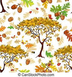 autunno, seamless, struttura