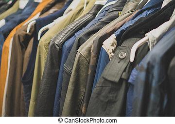 autunno, seconda mano, giacche, shop.