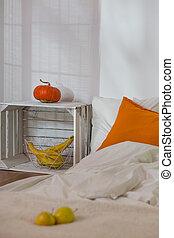 autunno, semplice, camera letto