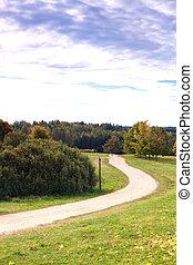 autunno, strada, paesaggio