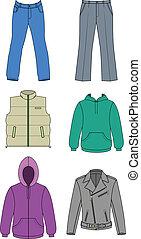 autunno, uomo, collezione, vestiti