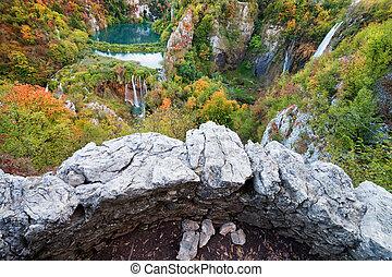 autunno, valle, paesaggio