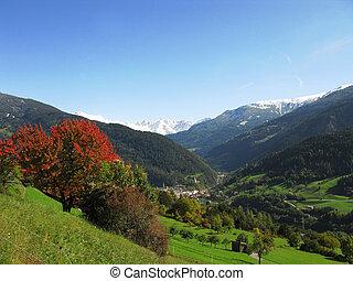 autunno, valle, tyrolian